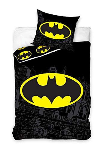 Batman Bettwäsche-Set, Bettbezug 135 x 200 cm + Kissenbezug 50x75 cm