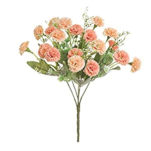 Artificial Flowers Bouquet Artificial Carnations Flowers Silk Flower Arrangements Fake Silk Bouquet Faux Carnation Flowers for Party Decor Arrangements Wedding Decoration Table Centerpieces