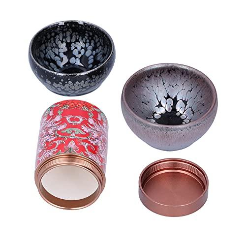 Atyhao Tarro de té Juego de Tazas de té Juego de té de cerámica Kung Fu Accesorios de Regalo para Beber en casa