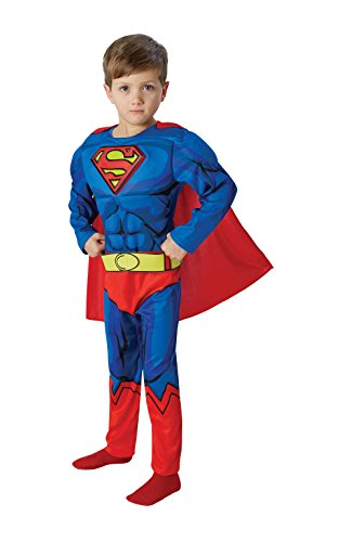 Rubie's IT610781-L - Superman Deluxe Costume, con Muscoli, Taglia L