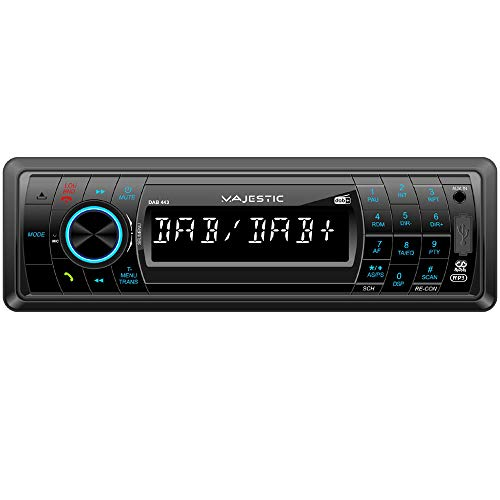 Majestic DAB-443 - Autoradio RDS FM/DAB+ PLL, Bluetooth, Lettore CD/MP3, Ingressi USB/SD/AUX-IN, 180W (45W x 4ch), Frontalino ribaltabile e estraibile, Nero
