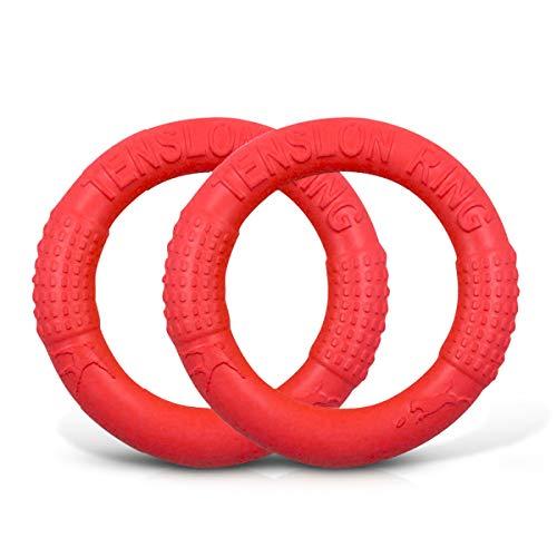 PETCUTE Hundespielzeug unzerstörbar Spielzeug Hund Interaktive Hunde Fliegen Ring Frisbee 2 Stücke