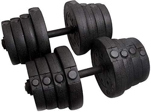 B-fengliu Mancuernas Pesos de Pesas Conjunto de Pesas PE Material Peso Conjunto de Mancuernas Gimnasio Placas de Barra con Recubrimiento de Goma Equipos de Fitness, Negro (Color : Black)