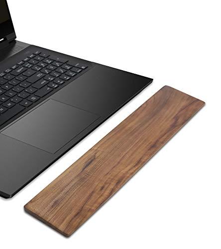 SK Studio Teclado Almohadilla para reposamuñecas Oficina Madera nogal 87 teclas Fácil escribir Accesorios para computadora Ali del dolor Cómodo Laptop antideslizante Juego ergonómico Nuez