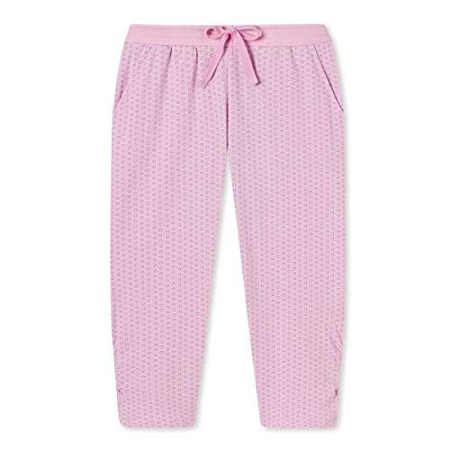 Schiesser Damen Mix & Relax Jerseyhose 3/4 Lang Schlafanzughose, Rot (pink 504), 48 (Herstellergröße:048)