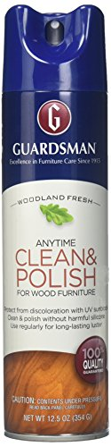 Guardsman 460700 Clean & Polish For Wood Furniture-Silicone Free, UV Protection, Woodland Fresh, 12.5 Oz, 1 Count