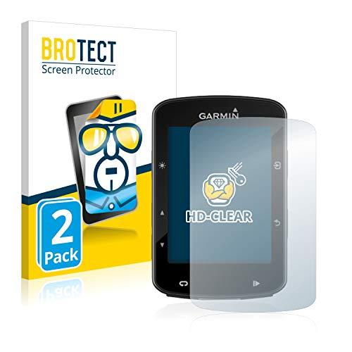 BROTECT Protector Pantalla Compatible con Garmin Edge 520 Plus Protector Transparente (2 Unidades) Anti-Huellas