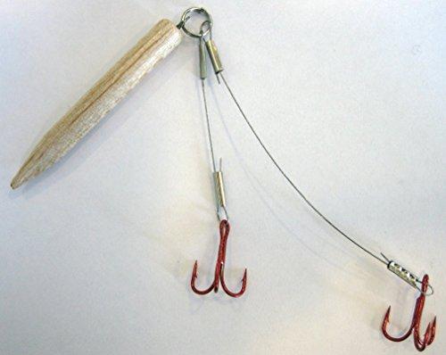 Köderfisch System Stahlvorfach mit Auftriebskörper Angel Schleppsystem Raubfisch (01)