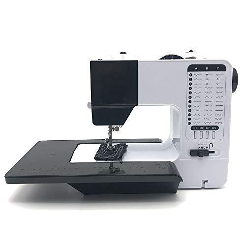 Máquinas de coser LCSD Hogar eléctrico multifunción Máquina de coser Máquina de coser for principiantes tamaño pequeño multifunción velocidad puede reducir el ruido Coser 12 clases de tablas anchas cu