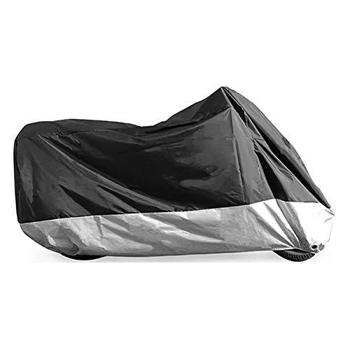 GAOZHE Cubierta de motocicleta impermeable para motocicleta, compatible con cubierta de motocicleta, 210D aislamiento fuerte lona para motocicleta (color : A, tamaño: L (22095110cm)
