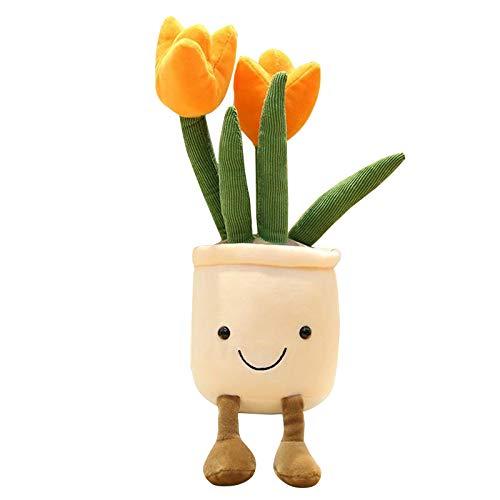 Plüschtier Kuscheltier Topfpflanzen, Kind Spielzeug, Blumen Pflanzen Plüschtiere Plüsch Spielzeug, Stofftier Spielzeug, Süße Plüschtier für Jungen, Mädchen, Babys