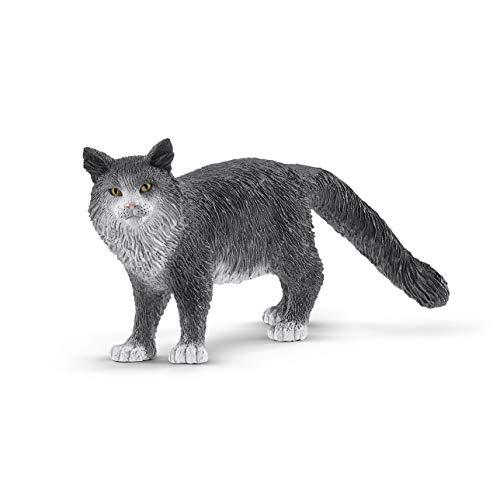Schleich- Figura Gato Maine Coon, 4,10 cm.