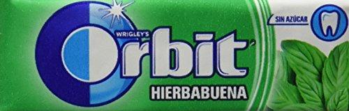 Orbit chicle sin azúcar sabor hierbabuena 10 grageas