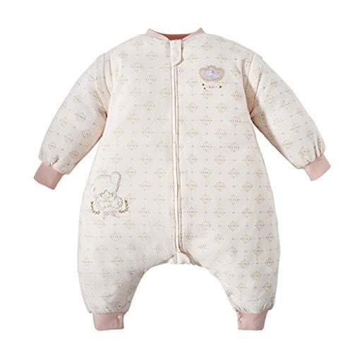 HUYP baby slaapzak afneembare mouwen baby split been katoen kind anti-kick wordt door vier seizoenen jongen meisjes verdikt