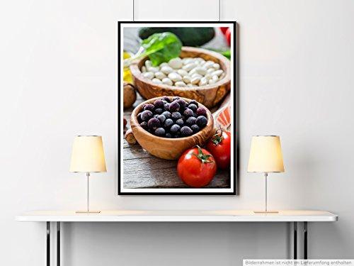 Sinus Art Kunst Leinwandbild - Food-Fotografie – Gesunde Lebensmittel- Fotodruck in gestochen scharfer Qualität