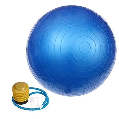 ABOOFAN 85 cm 1000 g Útil anti ráfaga bola de yoga espesa equilibrio dispositivo herramienta de ejercicio para fitness gimnasio ejercicios con bomba y abrazadera de aire y tapón (azul)