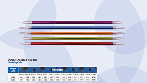 NEUHEIT Knit Pro Nadelspiel 15 cm, ZING, aus Aluminium, versch. Nadelstärken (NS 2.5)