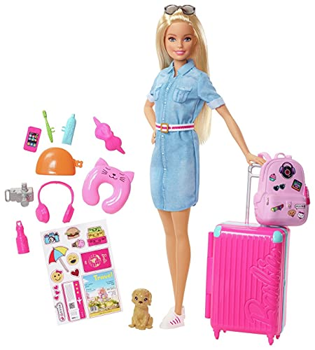 Barbie Multicolour Doll Travel Toy
