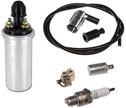 6-teiliges Zündungs-Set 6V mit Zündspule Kondensator für Simson Schwalbe, Star,...