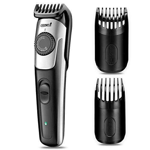 Ceenwes Beard Trimmer & Hair Clipper 38 Length Settings Lifetime Sharp Blades 2 Combs With Precision Dial USB Charging Fast Charge Long-Lasting Use
