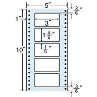 東洋印刷 タックフォームラベル 5インチ ×10インチ 5面付(1ケース1000折) MT5N