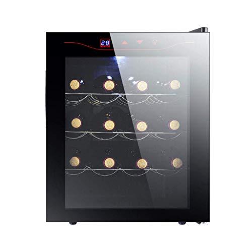 Taoke Wine Cooler - Frigo Vino, Frigorifero, 16 Bottiglie, Funzionamento Facile, LED, Frigo for Vino con Una Zona di Temperatura Sia 11-18deg; C, Nero 8bayfa (Color : Stainless Steel)