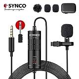 SYNCO Lav S6 Microfono-Solapa-Microfono-Lavalier-Condensador Omnidireccional 6M,...