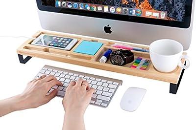 MK398A - Wood Desk Supplies Organizer