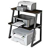 Deston Printer Stand with 3-Tier Storage Shelves, Large Size Multi-Purpose Desktop Organizer for Printer, Copier, Scanner, Files, and Books, 3 Layers Shelves with Steel Frame for Home and Office