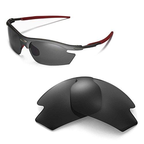 Walleva Ersatzgläser für Rudy Project Rydon Sonnenbrille - Mehrfache Optionen (Schwarz - polarisiert)