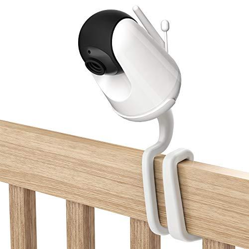 TIUIHU Universele babymonitor mount voor VAVA babyfoon met camera, veelzijdig voor alle andere cameras met 1/4 schroefdraaistoel zonder gereedschap of muurschade (1 pak, wit)