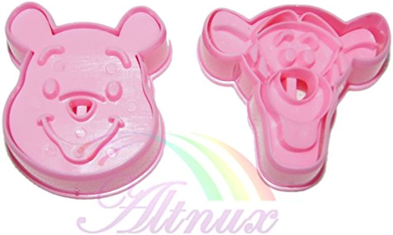 Generic 2pcs Pooh Tigger Cookie Cutter Fondant Cake Chocolate Mould Crafts Tools