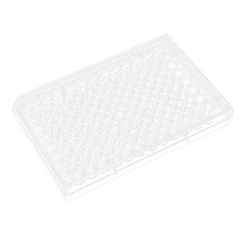 uxcell Flat Bottom 96 Wells Polystyrene Cell Culture Plate w Lid