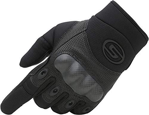 Seibertron Motorrad Handschuhe Herren Vollfinger Army Taktische Gloves Ideal für Airsoft, Militär,Paintball,Airsoft (Schwarz,S)