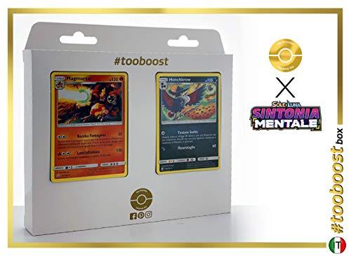 Magmotar (Maganon) 22/236 & Honchkrow (Corboss) 130/236 - #tooboost X Sol E & Luna 11 Sintonia Mentale - Coffret de 10 Cartes Pokémon Italiennes