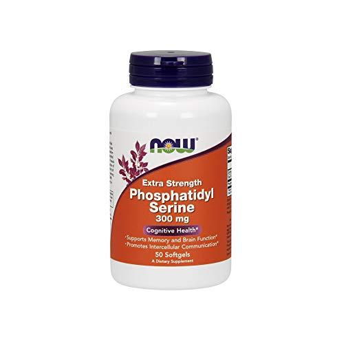 NOW Foods Fosfatidilserina, 300 Mg Extra De Fuerza 50 Unidades 120 g