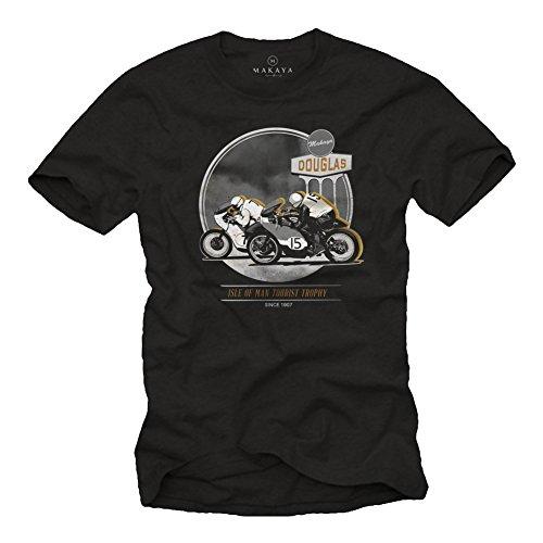 MAKAYA Regalos Camisetas Hombre Originales Moto - Cafe Racer Accesorio
