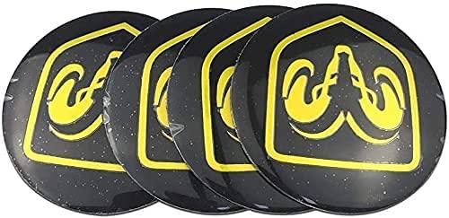 4Pcs Coche Rueda Cubo Centro Tapa para Dodge Logo Ram 1500 2500 Journey, Car Centrales Cubierta Insignia Impermeable Estilo DecoracióN Modificadas Accesorios