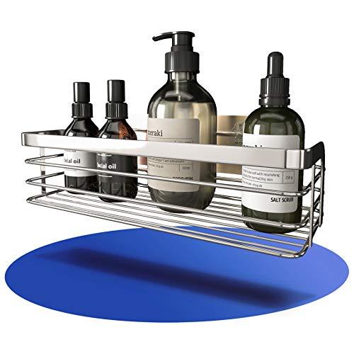 """Tessardo® designer Duschablage aus Edelstahl ZUM KLEBEN - modernes Duschregal OHNE BOHREN - hochwertiger Duschkorb - exklusive Badablage die in keinem """"Wohlfühlbadezimmer"""" mehr fehlen darf"""