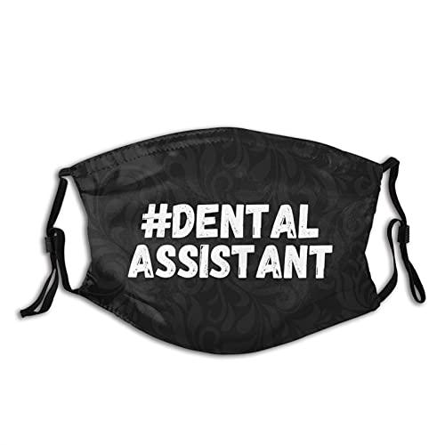 Dental Assistant Face Mask Washable Reusable Adjustable Bandanas with Designs Dust Bandanas for Women Men Adult