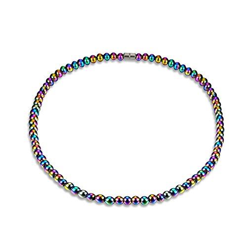 Unisex Magnetische Halskette Health Energy Healing Hämatit Perlen für Crystal Quartz Stretch Health Care