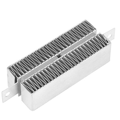 Thermostatic PTC Heating, Automatic PTC Heating Ripple Element Heater, Ripple Heating Plate, 12V/24V for Steam Generator Heater Heating Solids and Gases(12V 50W)