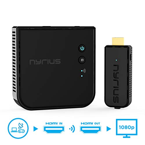 Nyrius Aries Prime Wireless Video HDMI Transmitter & Receiver for Streaming HD 1080p 3D Video &...