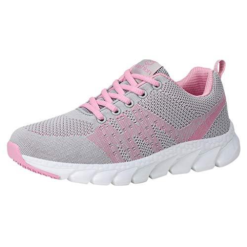 DAIFINEY Damen Turnschuhe Lässiges Laufen Leichtgewicht Atmungsaktiv und bequem für einen Spaziergang(Pink,39 EU)