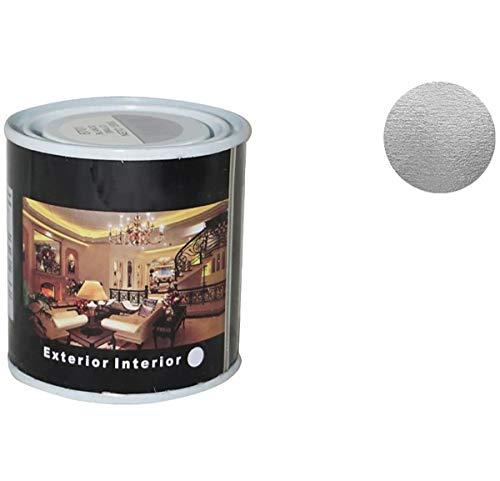 Pintura Esmalte al Disolvente para Madera y Metal, Pintura Alquidica de Rápido Secado para Superfícies Interiores y Exteriores(Plata, 125 ML)