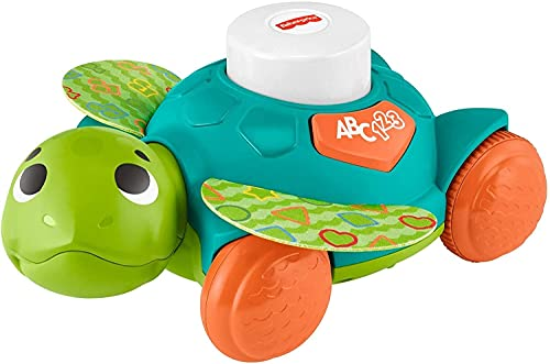 Fisher-Price Linkimals Sit-to-Crawl Sea Turtle, Light-up Musical Crawling Toy for Baby