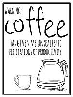 コーヒー、ブリキのかんばん、ヴィンテージ鉄絵のメタルプレートノベルティ装飾クラブカフェバー