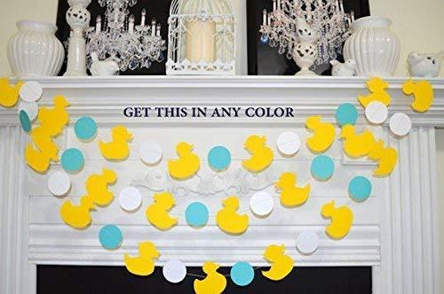 Duck Garland, Yellow Duckling decor, rubber duck baby shower decor, Ducky Paper Garland -Duck Banner, Duckling Nursery Decorations