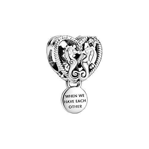 Pandora Abalorio de corazón con diseño de Seahorses de Openwork
