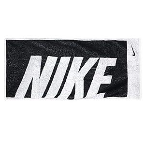 ナイキ(NIKE) ナイキ ジャガード タオル ミディアム ブラック×ホワイト TW2516-036F